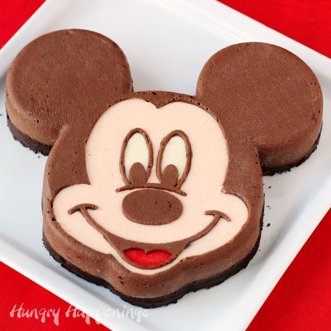 Mickey Mouse Dessert  Mickey Mouse Cheesecake A Hand Painted Dessert