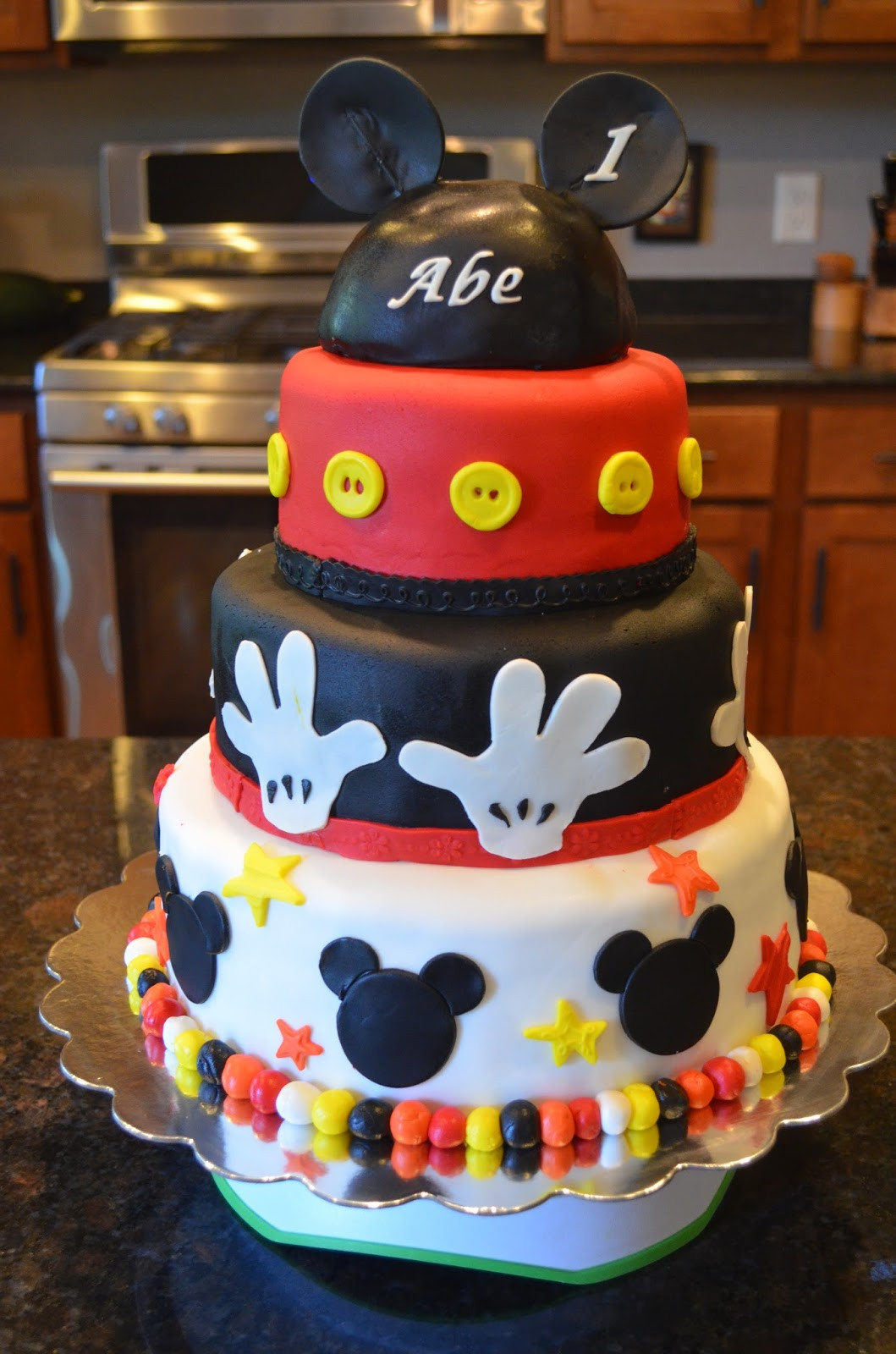 Mickey Mouse Dessert  Cake Mama Mickey Mouse for Abe