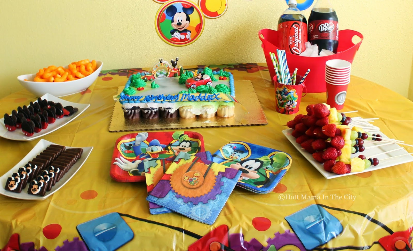Mickey Mouse Dessert  Hot Mama In The City Mickey Mouse Themed Desserts