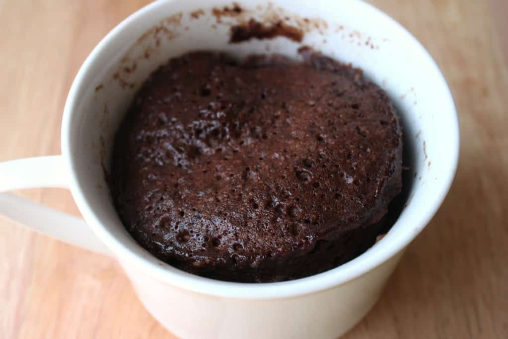 Microwave Cake In A Mug  Mug Cake student recipe Five minute chocolate cup cake
