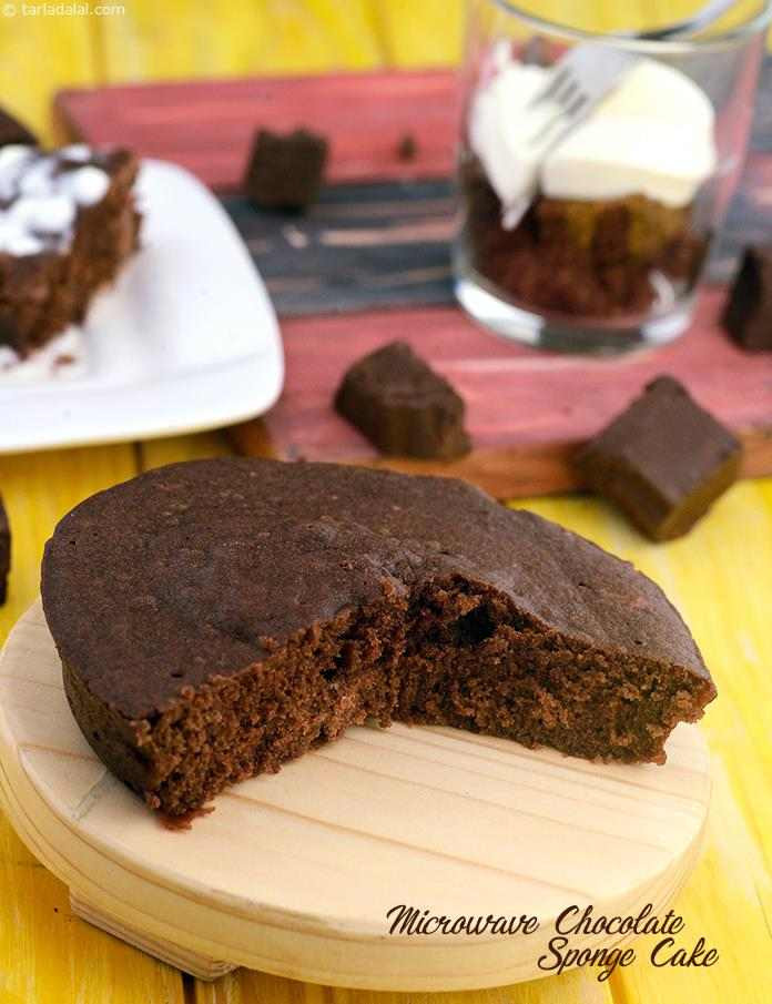 Microwave Cake Recipes  Microwave Chocolate Sponge Cake recipe