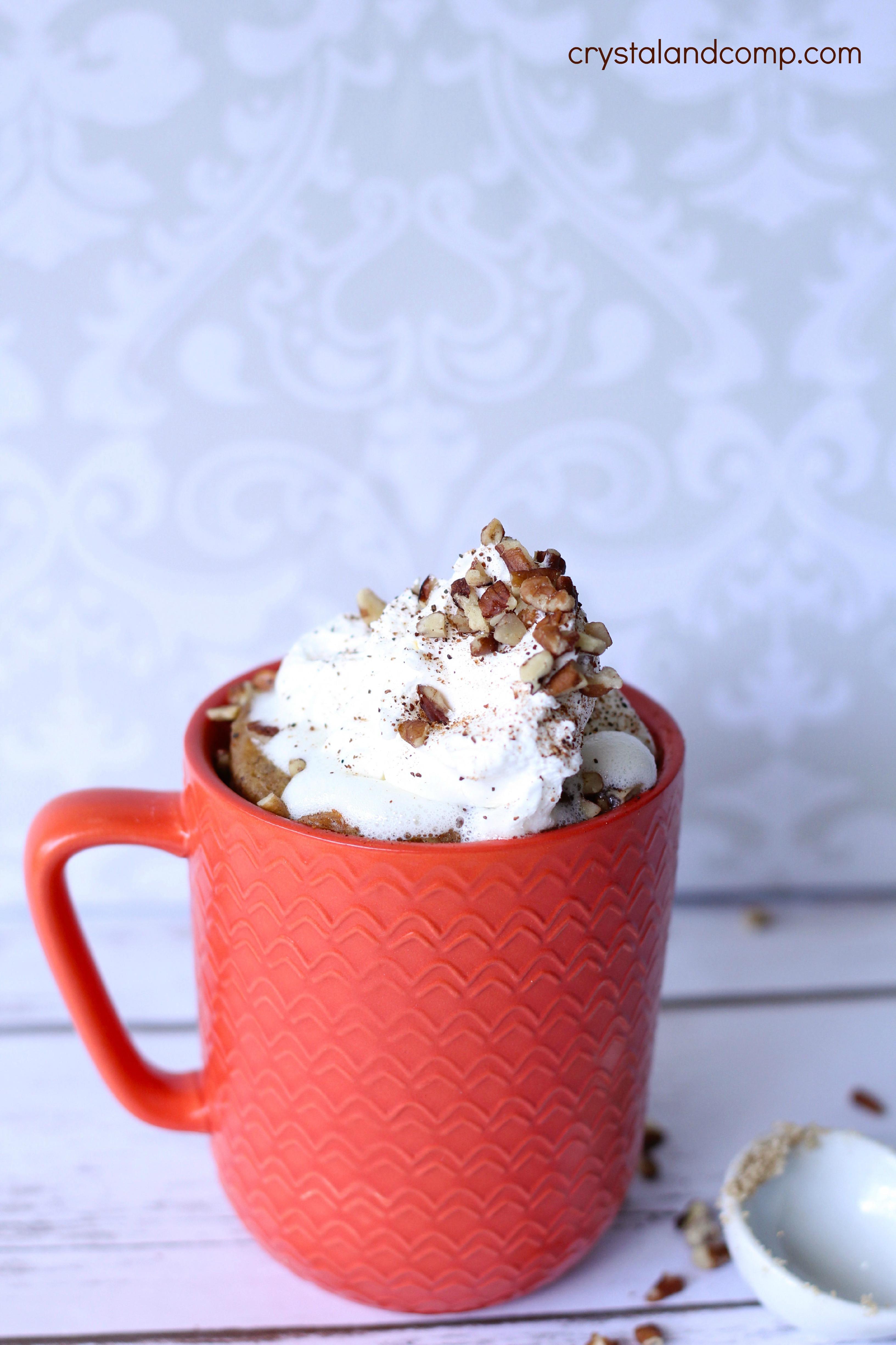 Microwave Mug Cake  Microwave Mug Cake Carrot Cake