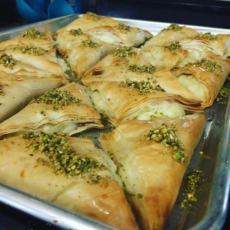 Middle Eastern Dessert Recipe  Middle Eastern Desserts Warbat or Kullaj cheese stuffed