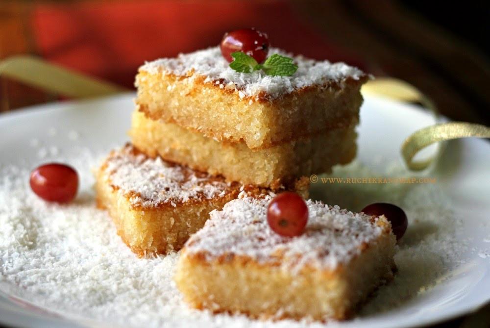 Middle Eastern Dessert Recipe  basboosa