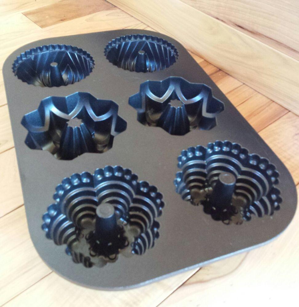 Mini Bundt Cake Pan  Nordic Ware 6 Cup Multi Mini Bundt Non Stick 3 Mold