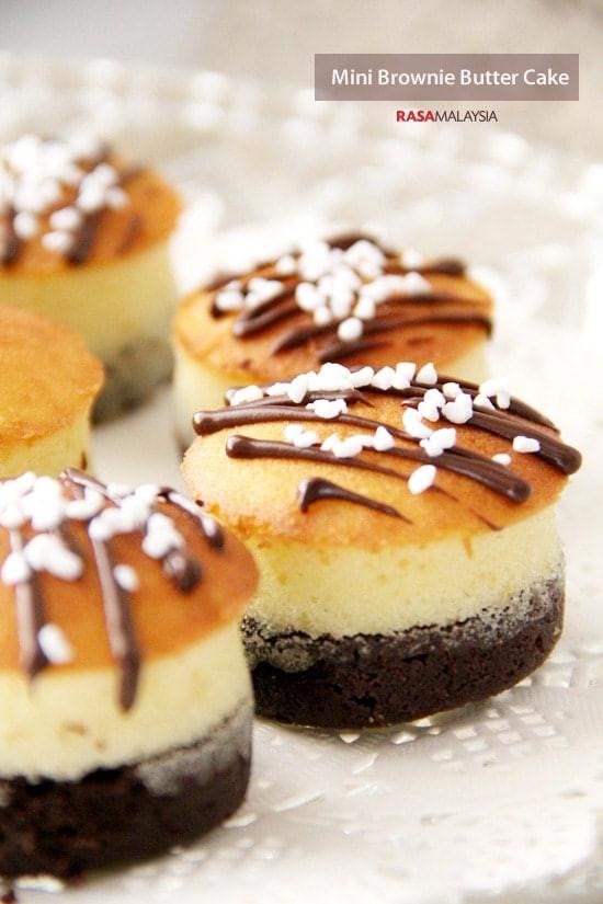 Mini Cake Recipe  Mini Brownie Butter Cake