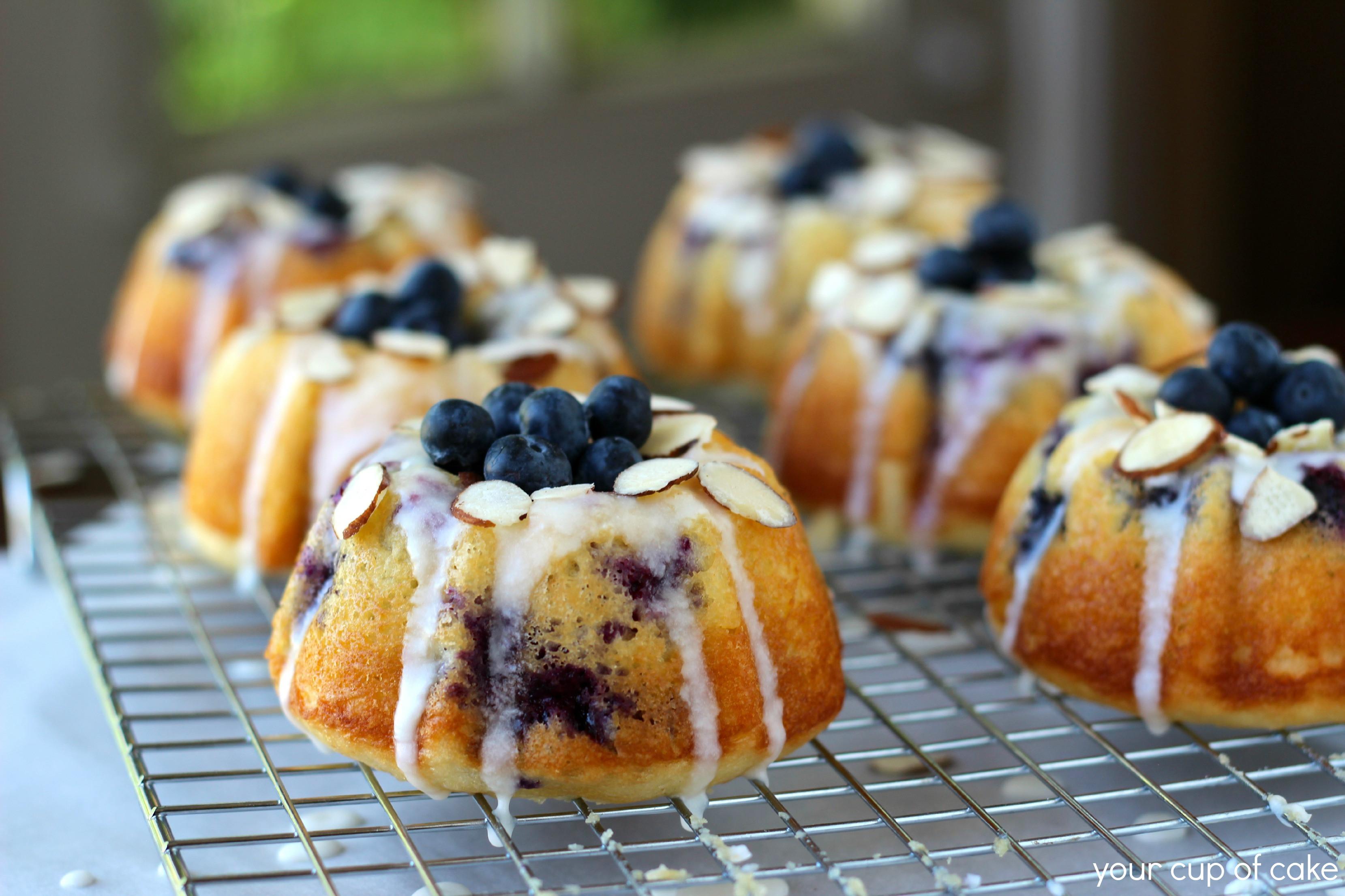 Mini Cake Recipe  Blueberry Almond Mini Bundt Cakes Your Cup of Cake