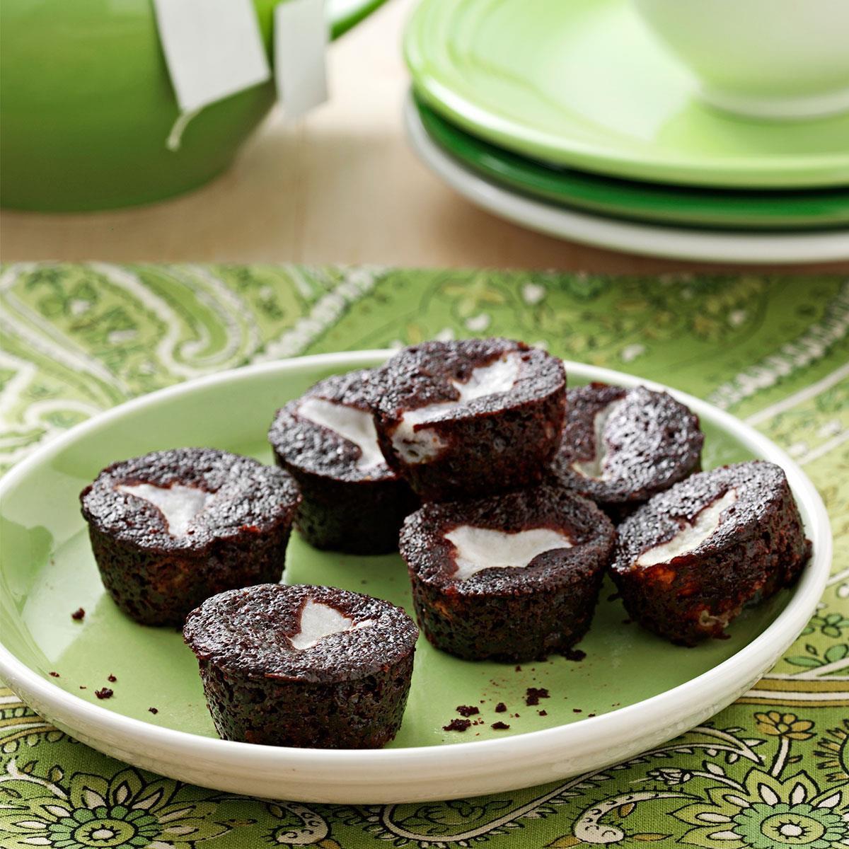 Mini Cake Recipe  Chocolate Bottom Mini Cupcakes Recipe