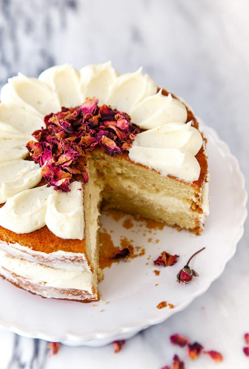 Mini Cake Recipe  White Chocolate Rose Cake