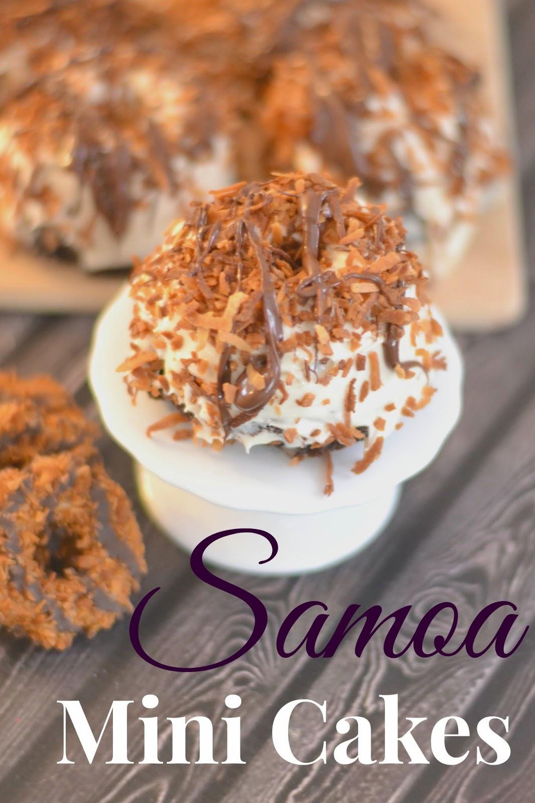 Mini Cake Recipe  Samoa Mini Cakes Recipe