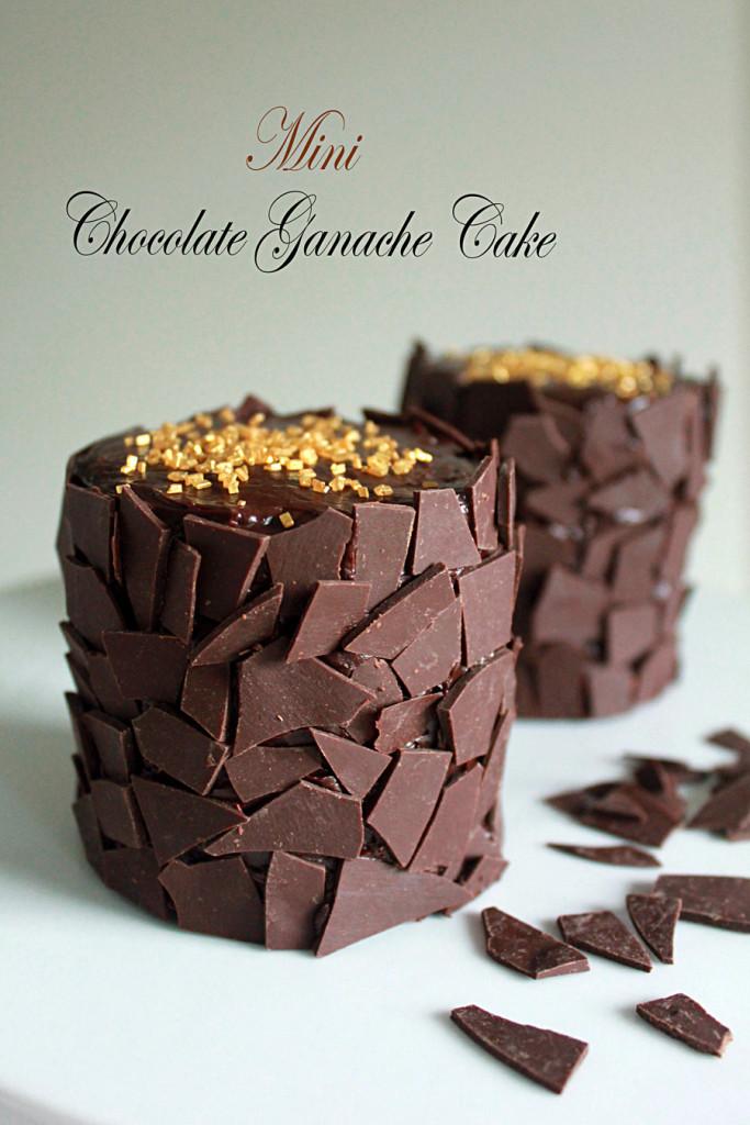 Mini Chocolate Cake  Mini Chocolate Ganache Cakes Oh Sweet Day