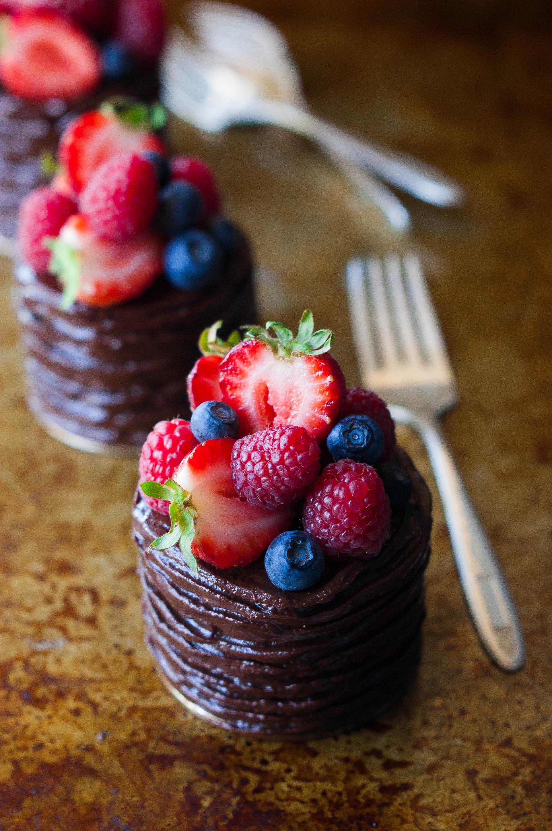 Mini Chocolate Cake  Mini Double Chocolate Berry Cakes The Kitchen McCabe