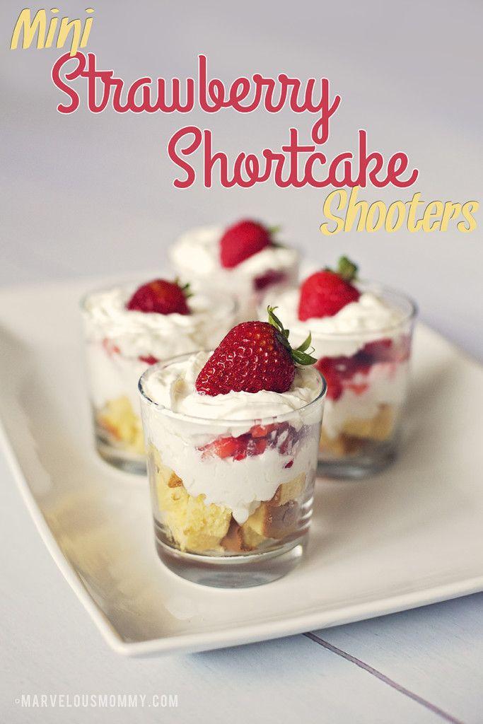 Mini Dessert Cup Recipes  Mini Strawberry Shortcake Shooters SLSweetTreats