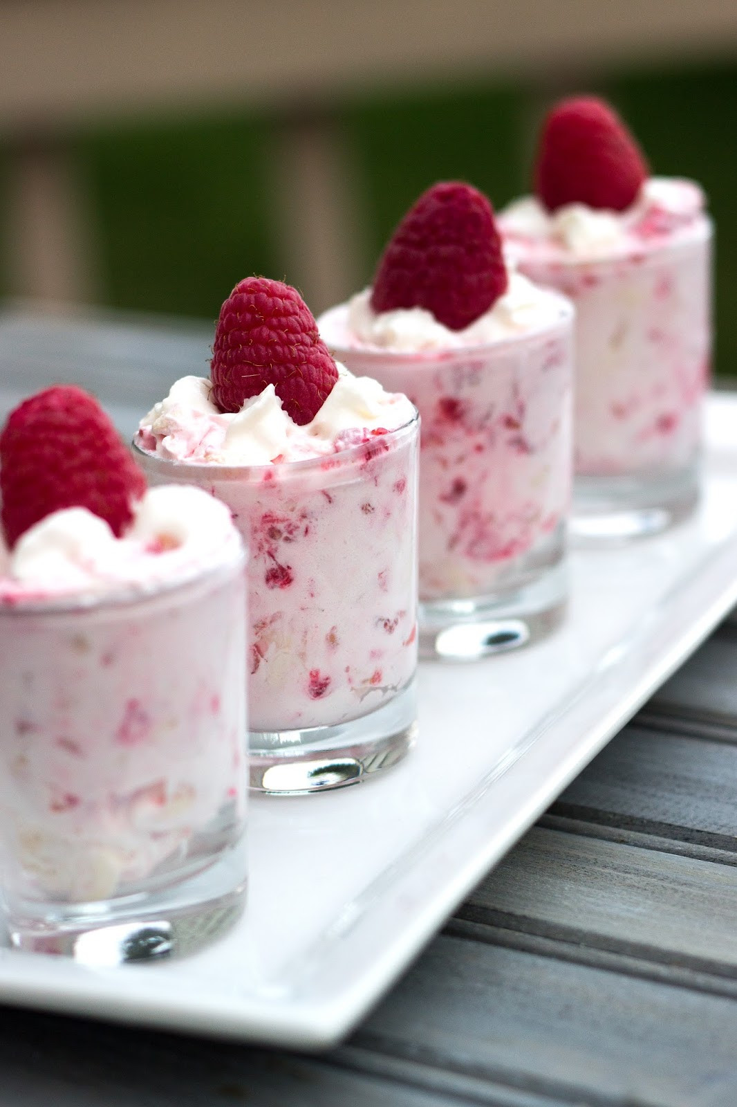 Mini Dessert Cup Recipes  Raspberry Shooters White Lights on Wednesday