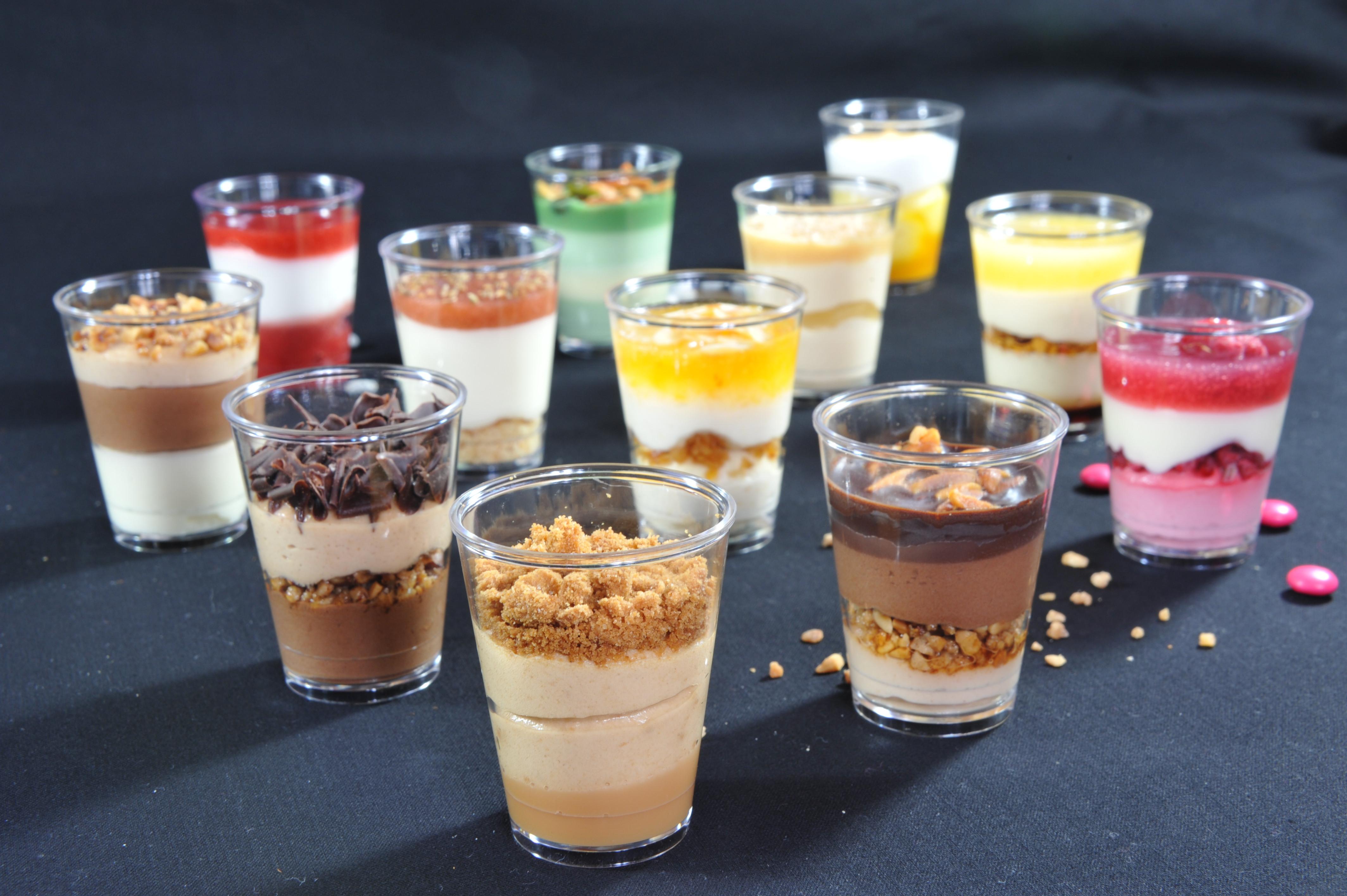 Mini Dessert Glasses  Rolph & Rolph individual desserts shot glasses and verrines