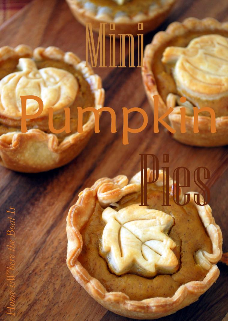 Mini Pumpkin Pie  Keep Calm and Gobble Thanksgiving Recipe Round Up
