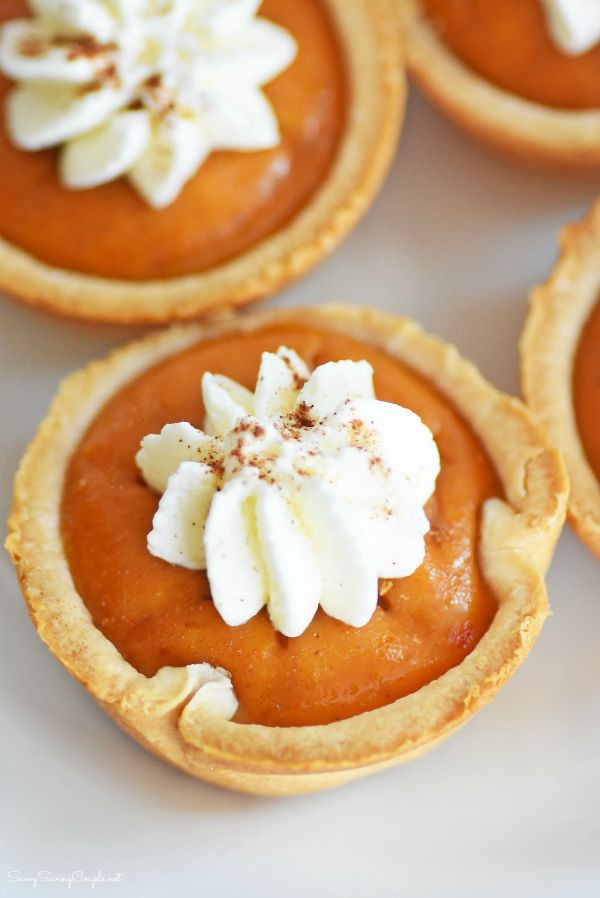 Mini Pumpkin Pie  Mini Pumpkin Pies Made in a Muffin Tin ⋆ Savvy Saving Couple