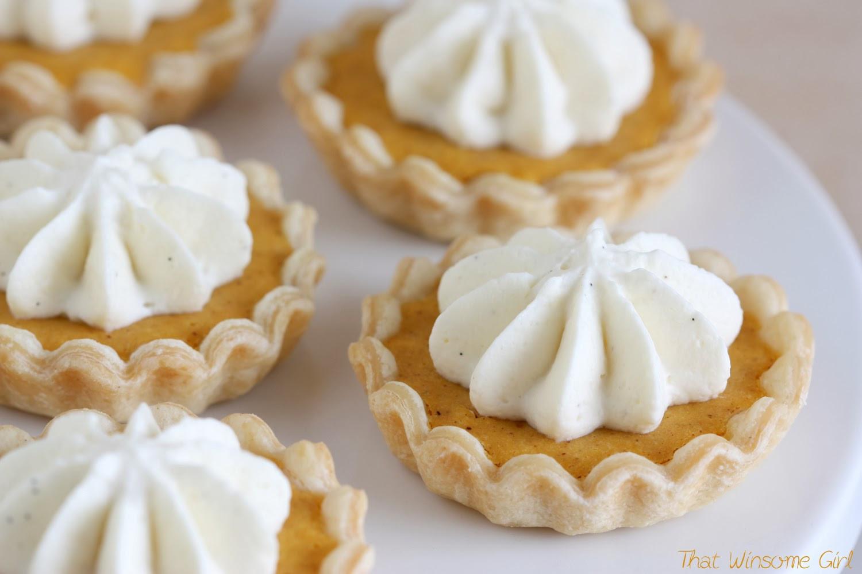 Mini Pumpkin Pie  That Winsome Girl Mini Pumpkin Pies