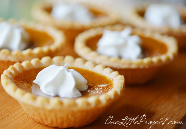 Mini Pumpkin Pie  Mini Pumpkin Pies