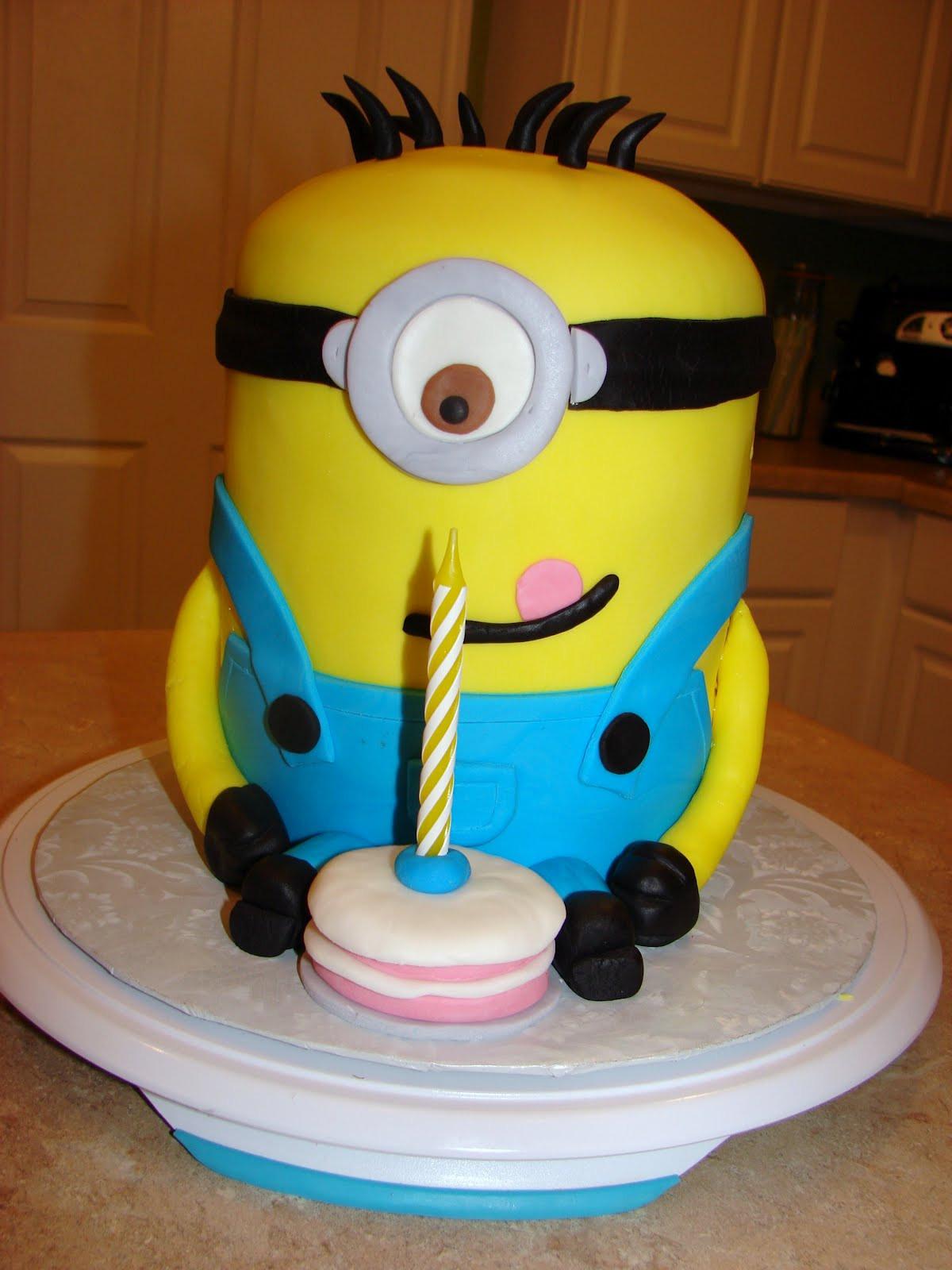 Minion Birthday Cake  Ipsy Bipsy Bake Shop Minion Cake