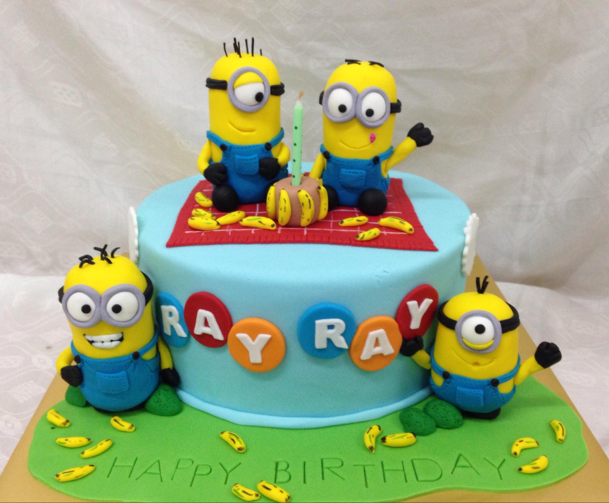 Minion Birthday Cake  Minions Cakes