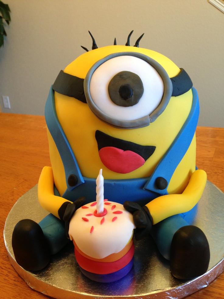 Minion Birthday Cake  Happy Birthday Cake Minions Fondant Cake