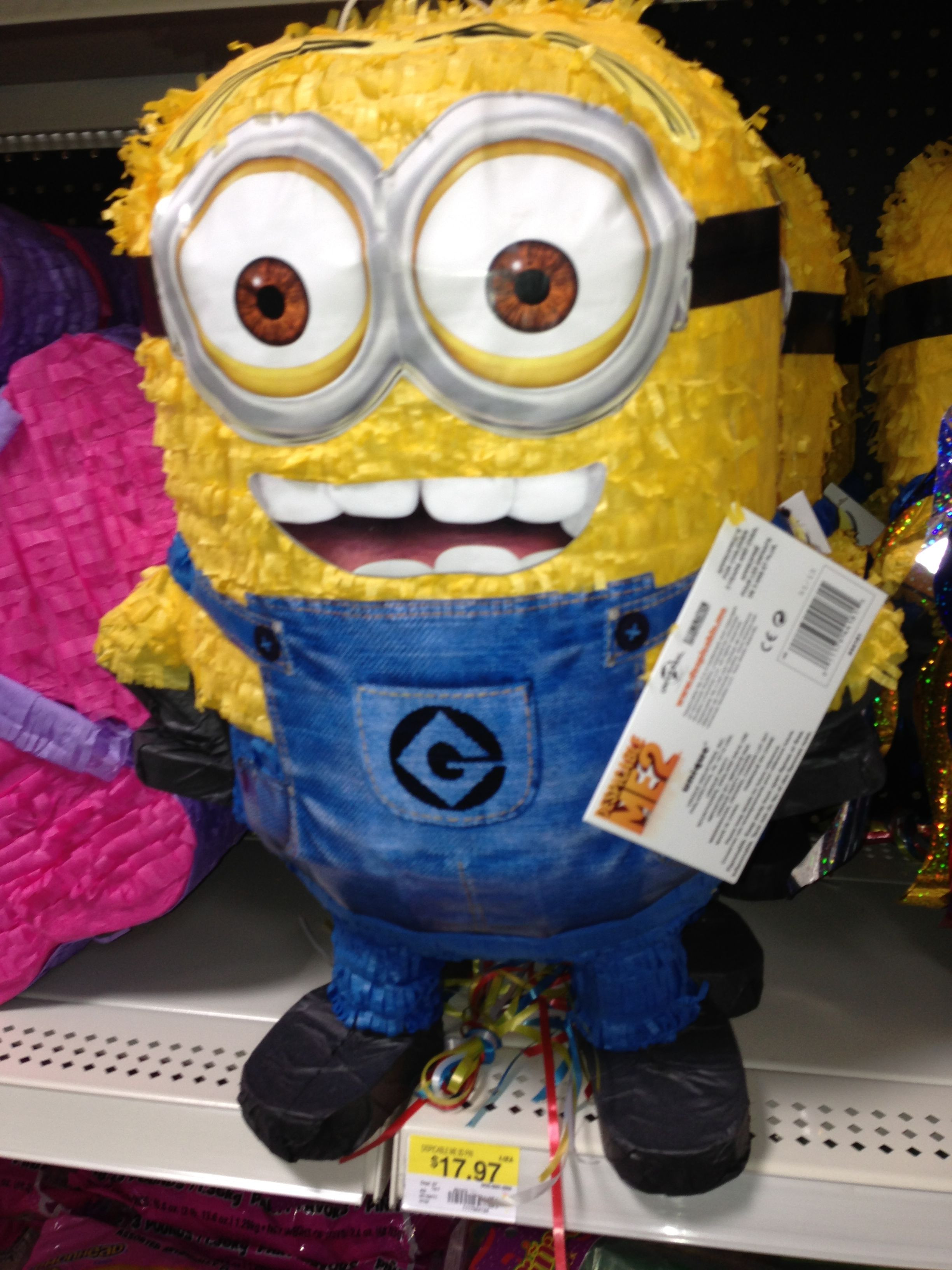 Minions Birthday Cake Walmart  Minion Piñata Walmart