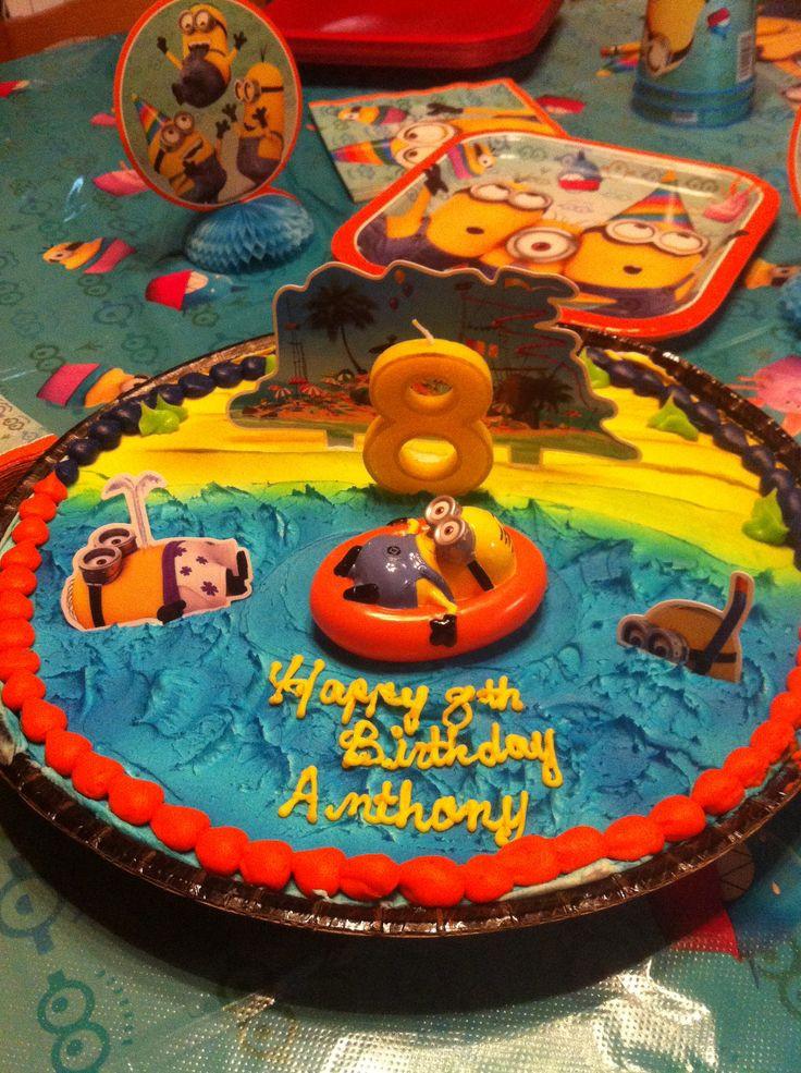 Minions Birthday Cake Walmart  Minion cookie cake We took the cake decoration from
