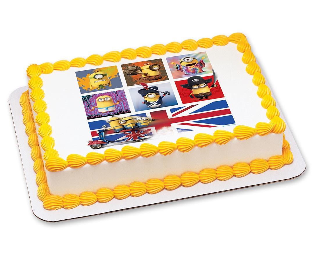 Minions Birthday Cake Walmart  Minion Cakes Despicable Me Birthday Cakes