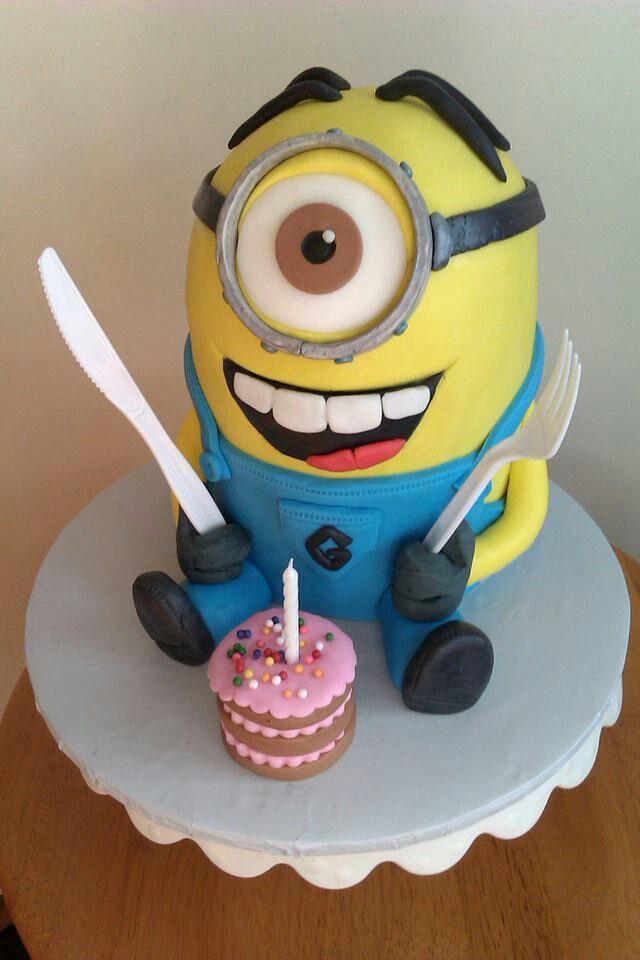 Minions Birthday Cake Walmart  41 best images about Gebak on Pinterest