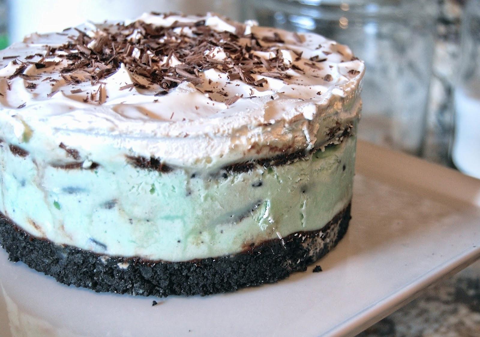 Mint Chocolate Chip Ice Cream Cake  Much Kneaded Mint Chocolate Chip Ice Cream Cake