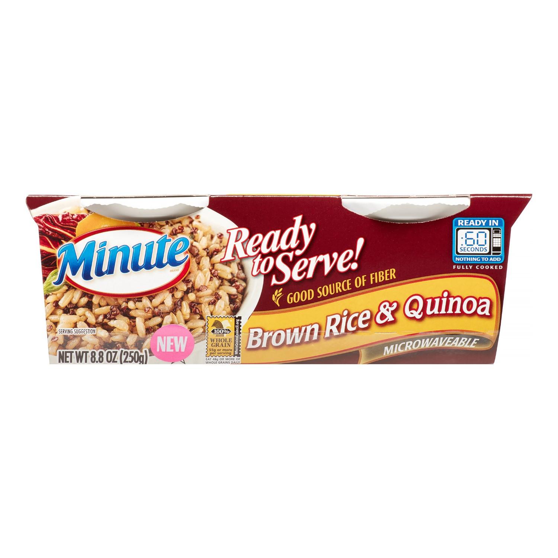 Minute Brown Rice  Minute Rice Brown Rice & Quinoa 4 4 Oz 2 Ct