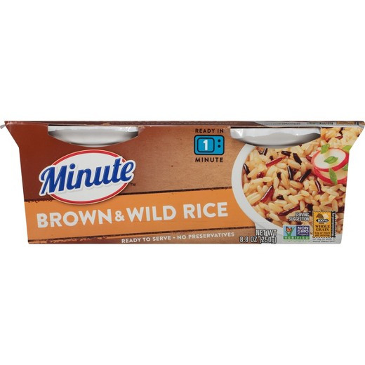 Minute Brown Rice  Minute Brown & Wild Rice Microwaveable Rice Bowl 8 8 oz 2