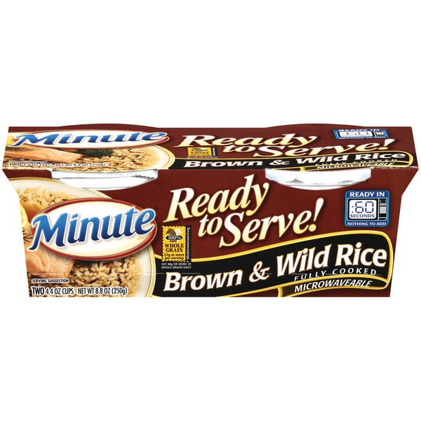 Minute Brown Rice  Minute Rice Ready to Serve Brown & Wild 4 4 Oz Rice from