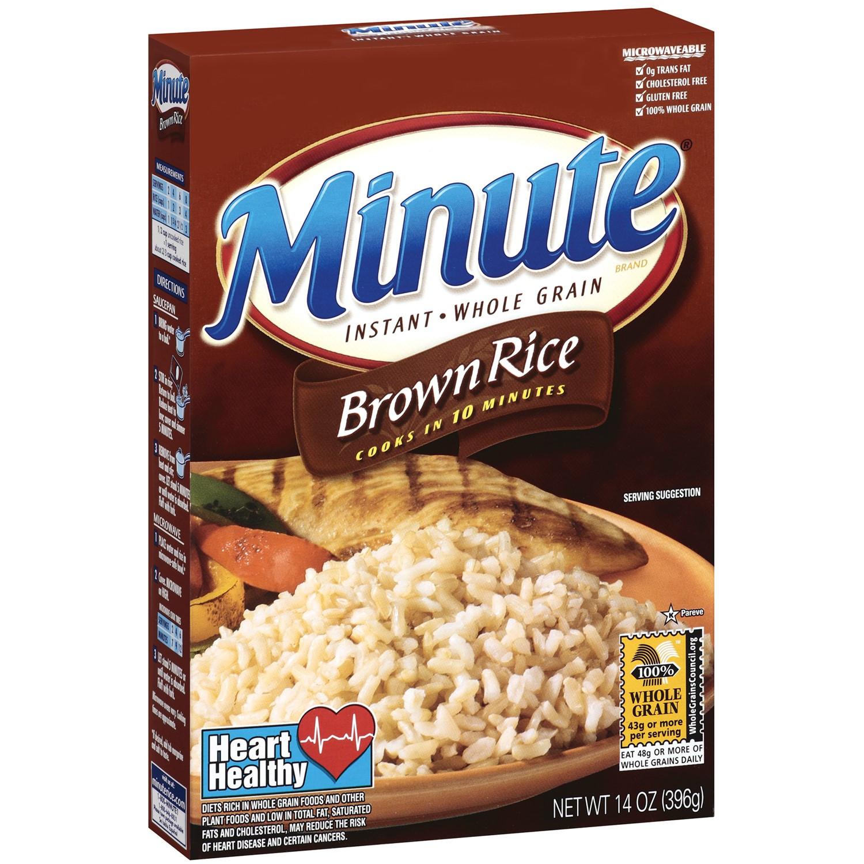 Minute Brown Rice  Minute Brown Rice 10 minute Instant Whole Grain Rice 14 Oz