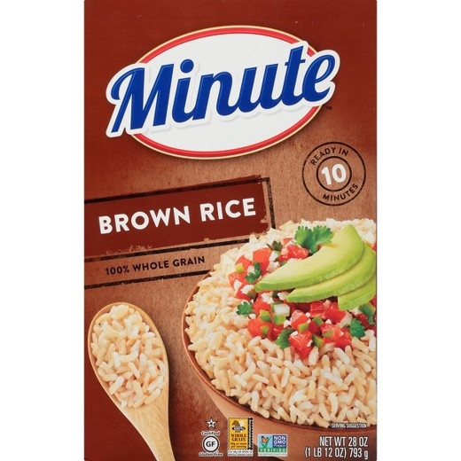 Minute Brown Rice  Minute Instant Whole Grain Brown Rice 28 oz Tar