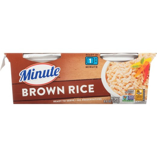 Minute Brown Rice  Minute Ready to Serve Fully Cooked Brown Rice Cups 2pk
