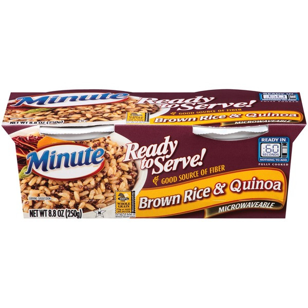 Minute Brown Rice  Minute Rice Brown Rice & Quinoa from H E B Instacart