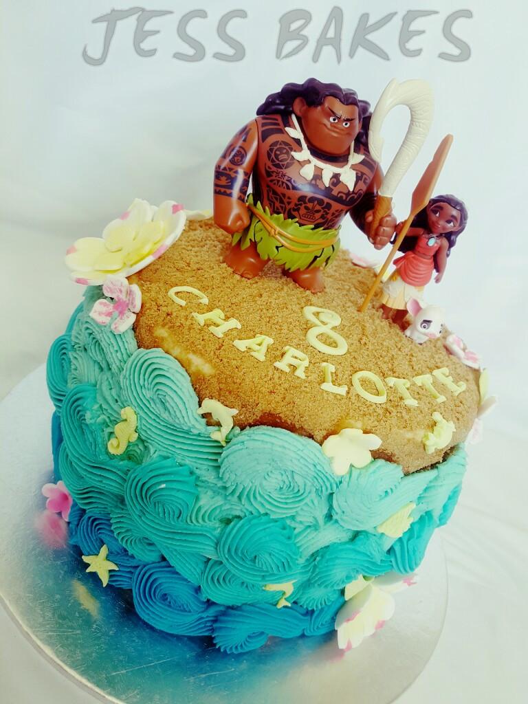 Moana Birthday Cake Ideas  Moana cake – Jess Bakes