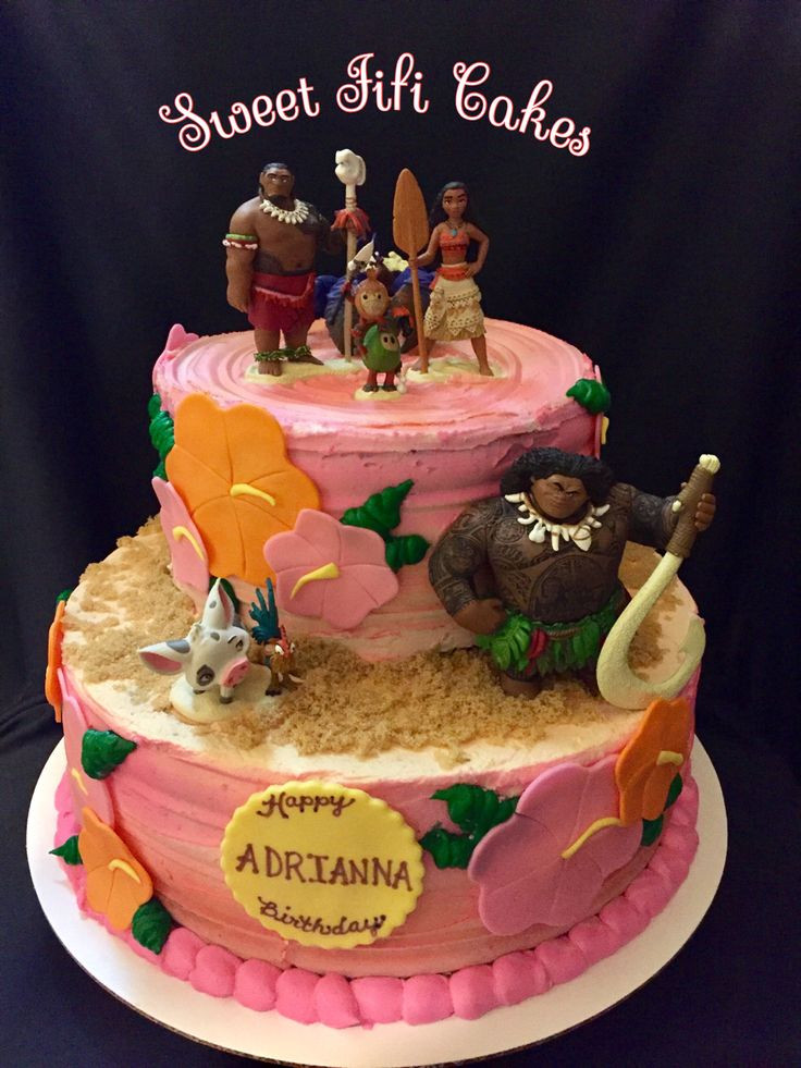 Moana Birthday Cake Ideas  75 best MOANA images on Pinterest