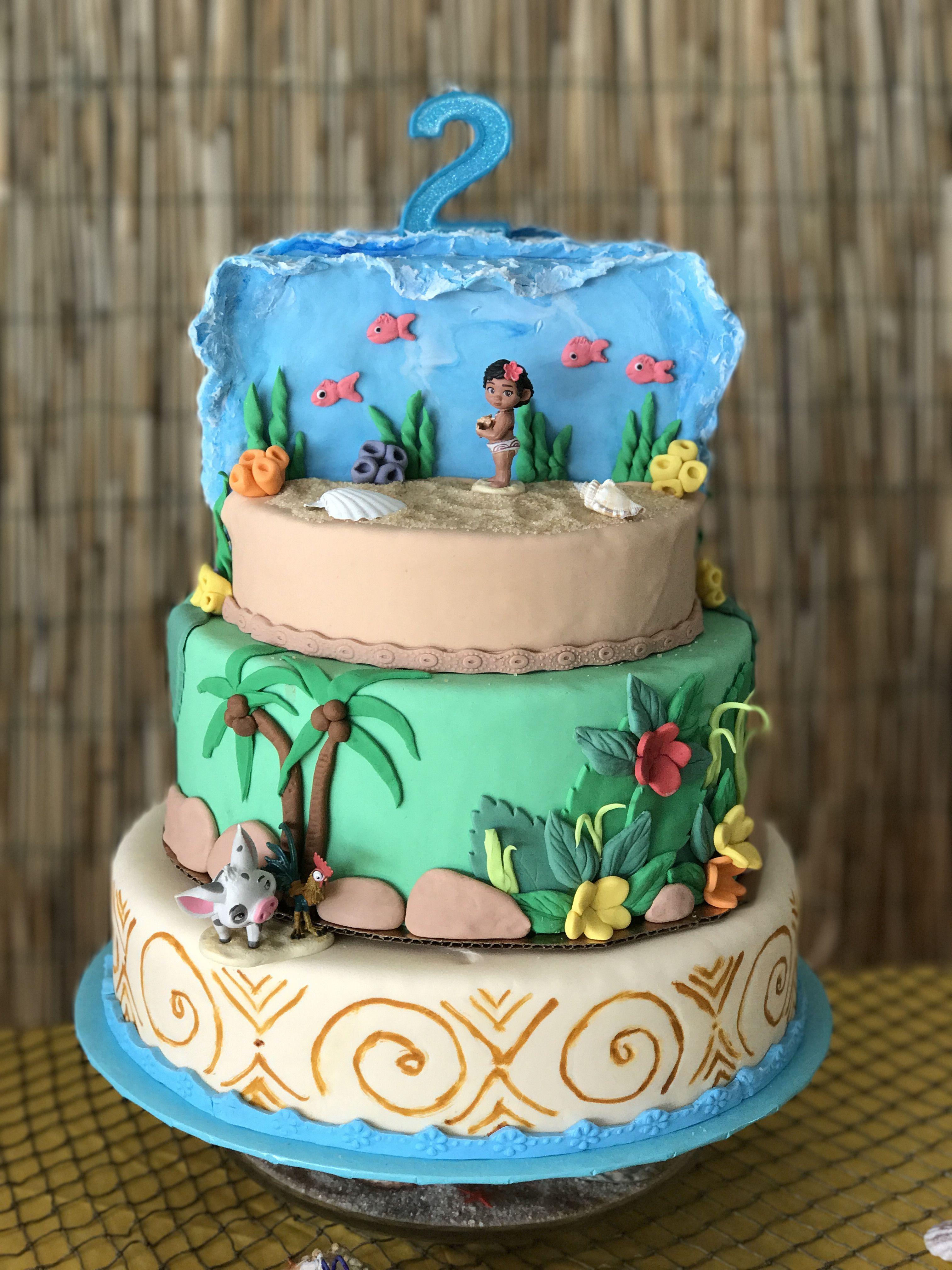 Moana Birthday Cake Ideas  Moana Cake My Pics Pinterest