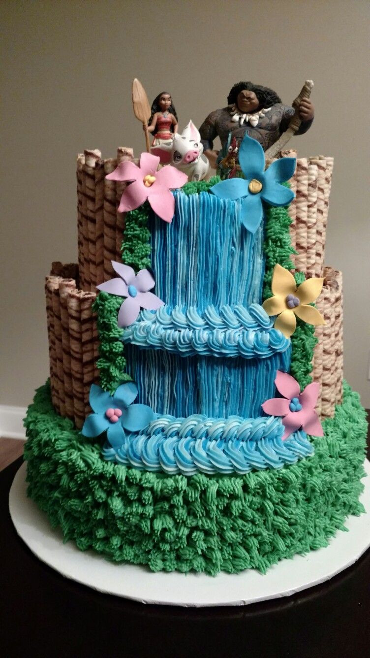 Moana Birthday Cake Ideas  Moana waterfall cake My Cake Creations