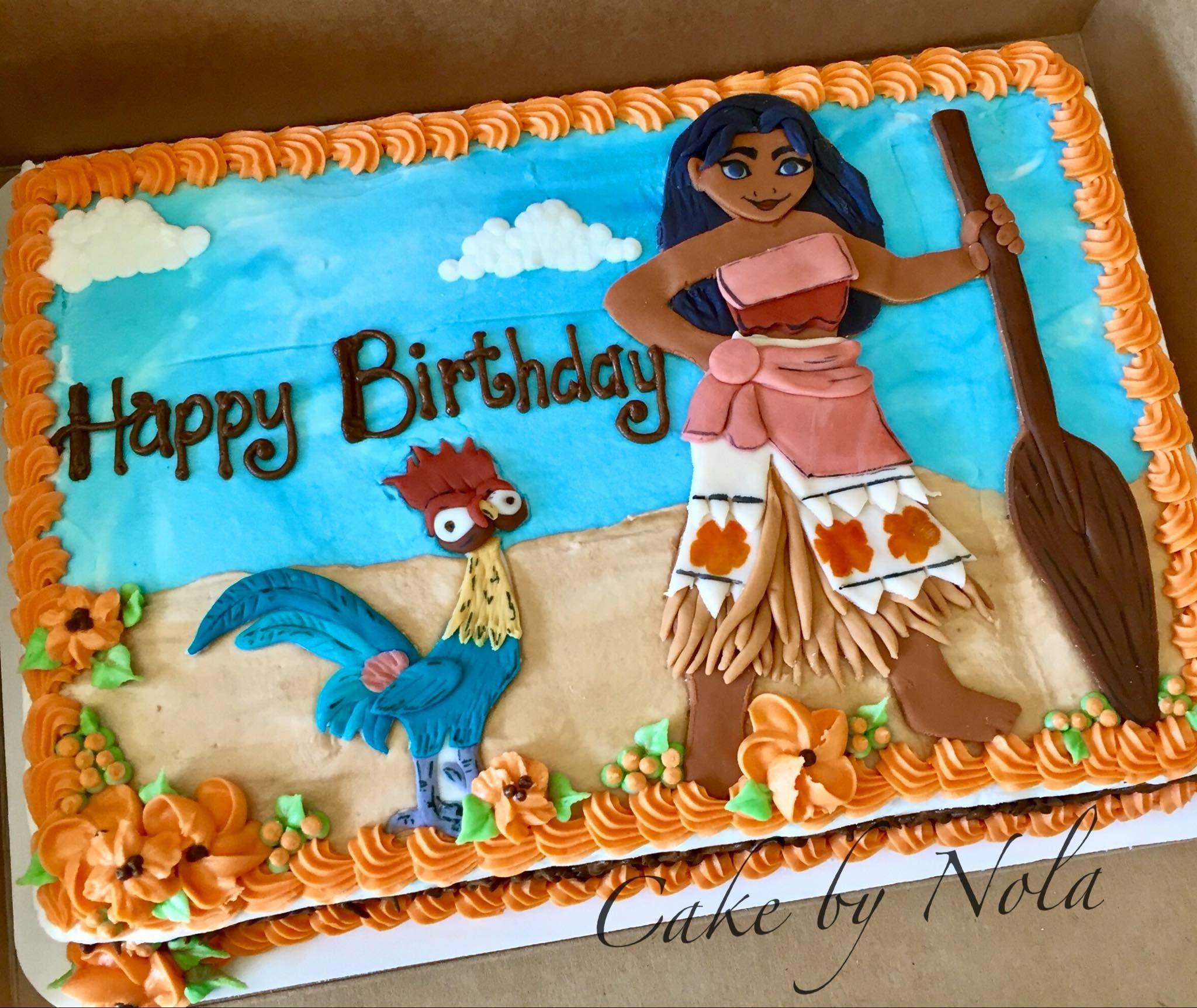 Moana Sheet Cake  The chicken lives Moana themed cake moana birthdaycake