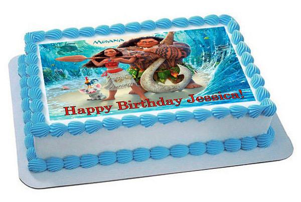 Moana Sheet Cake  Moana 1 Edible Birthday Cake Topper