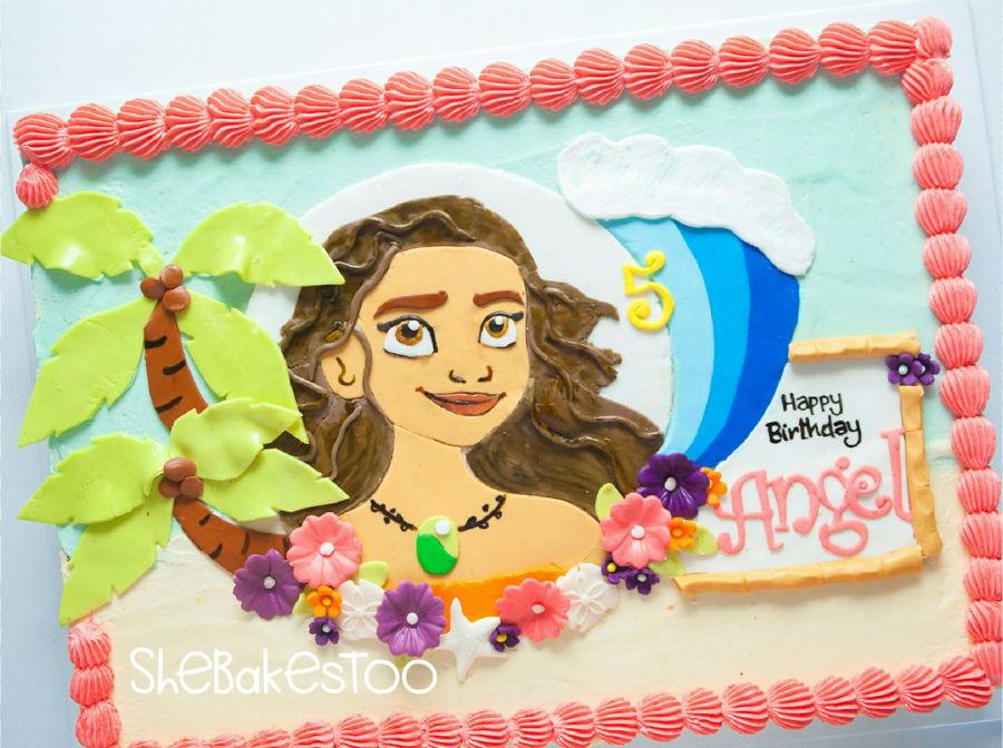 Moana Sheet Cake  Moana Sheet Cake CakeCentral