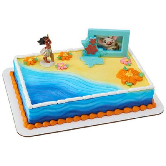 Moana Sheet Cake  Moana Cake Decoration Adventures in Oceania Cake Topper