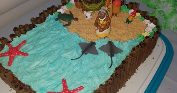 Moana Sheet Cake  Image result for easy moana sheet cake kids