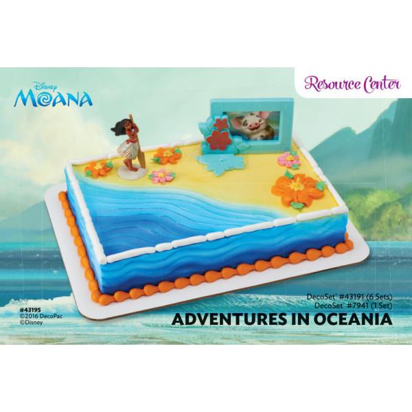 Moana Sheet Cake  Moana Adventures in Oceania