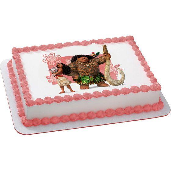 Moana Sheet Cake  Moana Quarter Sheet Edible Cake Topper Each