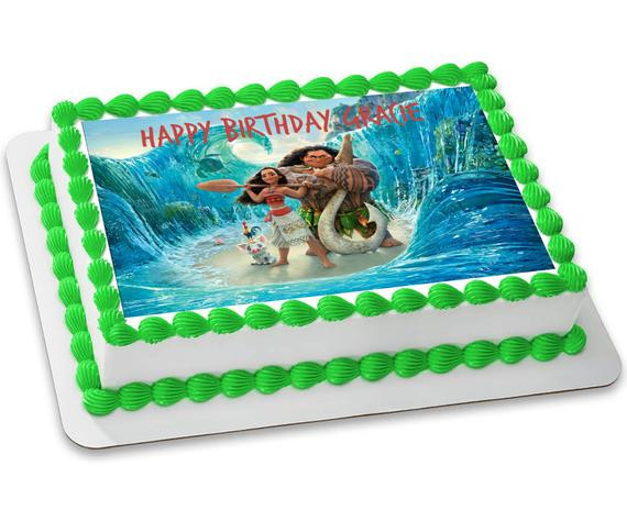 Moana Sheet Cake  Moana Customizable Edible Image 8 5x11